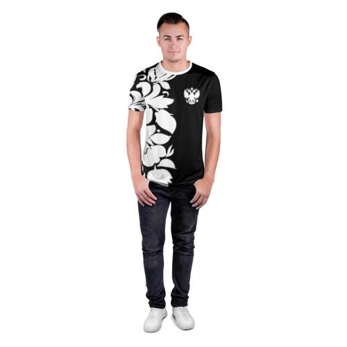 Мужская футболка 3D спортивная  Фото 04, Russia Black&White Style