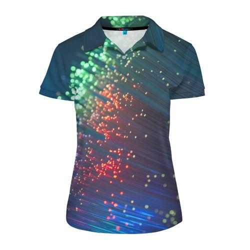 Женская рубашка поло 3D Огоньки