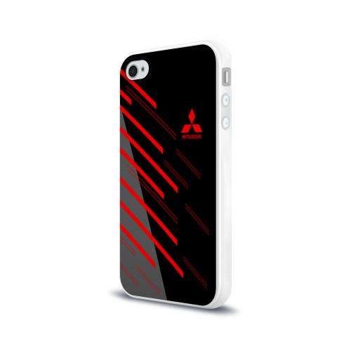 Чехол для Apple iPhone 4/4S силиконовый глянцевый MITSUBISHI SPORT Фото 01
