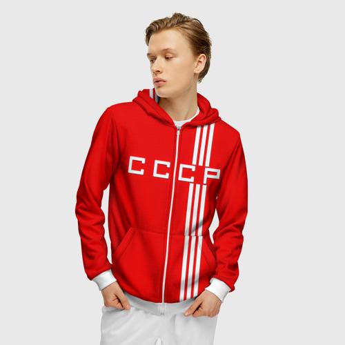 Мужская толстовка 3D на молнии Форма сборной СССР-2 Фото 01
