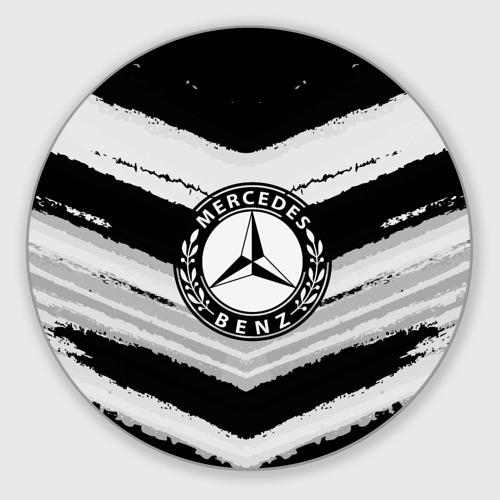 Коврик для мышки круглый  Фото 01, Mercedes sport abstract 2018