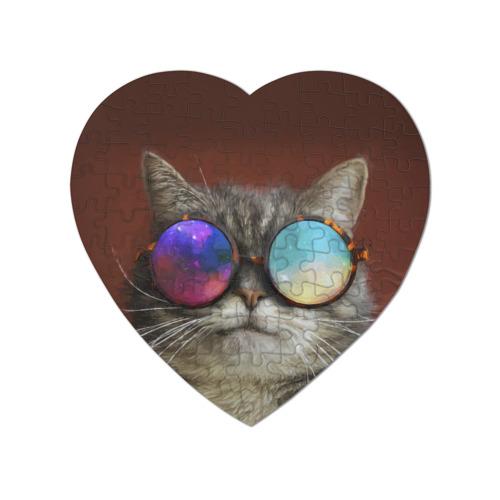Пазл магнитный сердце 75 элементов котейки