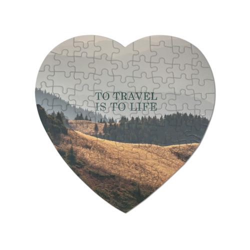 Пазл магнитный сердце 75 элементов путешествия