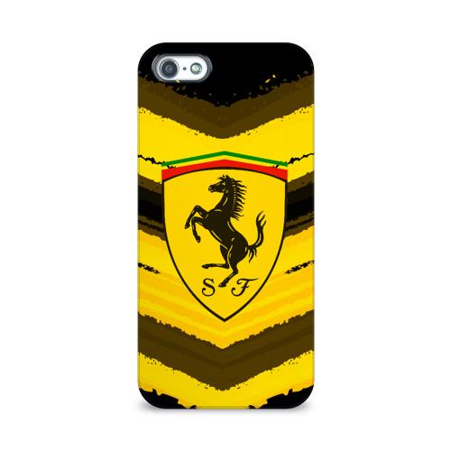 Чехол для Apple iPhone 5/5S 3D  Фото 01, Ferrari sport abstract 2018