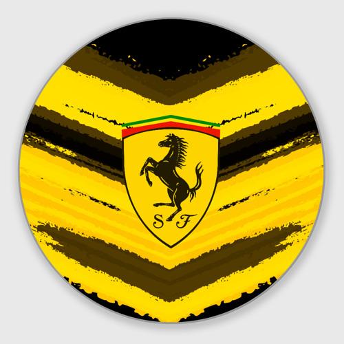 Коврик для мышки круглый  Фото 01, Ferrari sport abstract 2018
