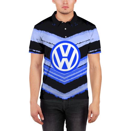 Мужская рубашка поло 3D  Фото 03, Volkswagen sport abstract 2018