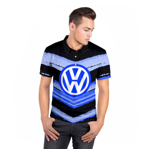 Мужская рубашка поло 3D  Фото 05, Volkswagen sport abstract 2018