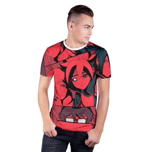 Мужская футболка 3D спортивная  Фото 03, Red Naruto
