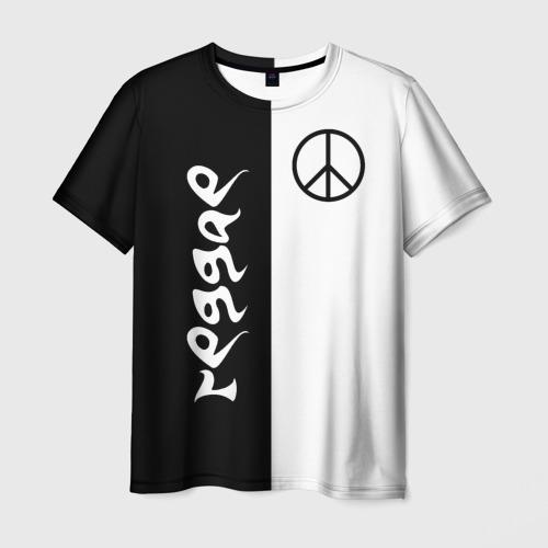 Мужская футболка 3D  Фото 03, Reggae знак пацифик