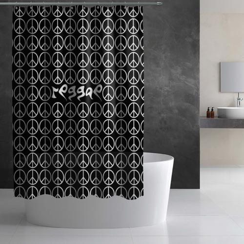 Штора 3D для ванной  Фото 02, Reggae