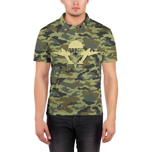 Мужская рубашка поло 3D  Фото 03, ВДВ. Никто кроме нас