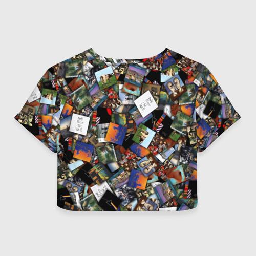 Женская футболка Crop-top 3D Pink Floyd. Дискография Фото 01
