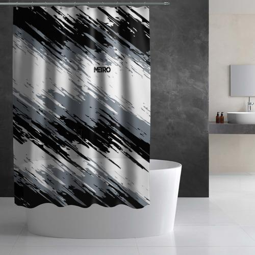Штора 3D для ванной METRO Фото 01