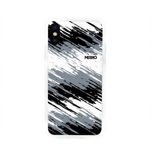 Чехол для Apple iPhone X силиконовый глянцевый METRO Фото 01