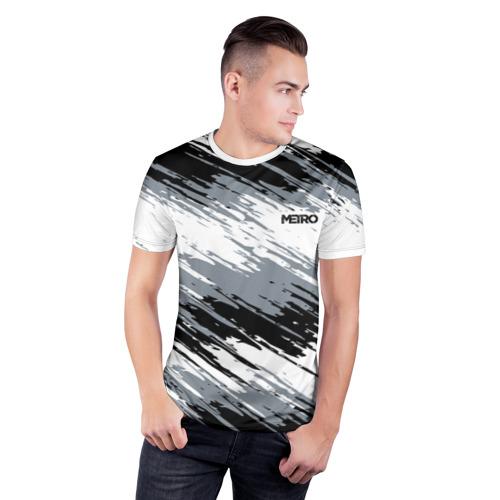 Мужская футболка 3D спортивная METRO Фото 01