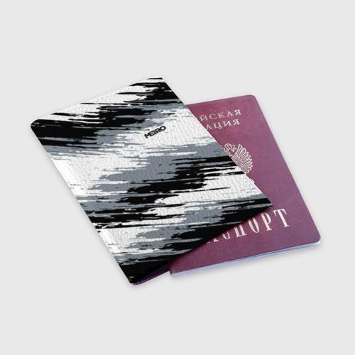 Обложка для паспорта матовая кожа METRO Фото 01
