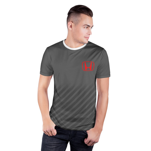 Мужская футболка 3D спортивная  Фото 03, HONDA SPORT