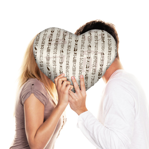 Подушка 3D сердце  Фото 03, Иероглифы