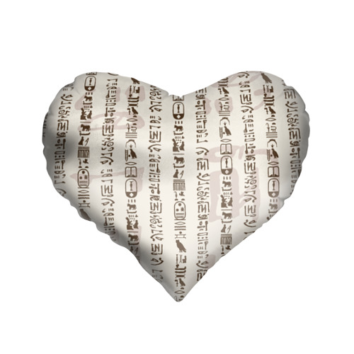 Подушка 3D сердце  Фото 01, Иероглифы