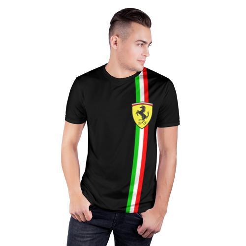 Мужская футболка 3D спортивная  Фото 03, Ferrari