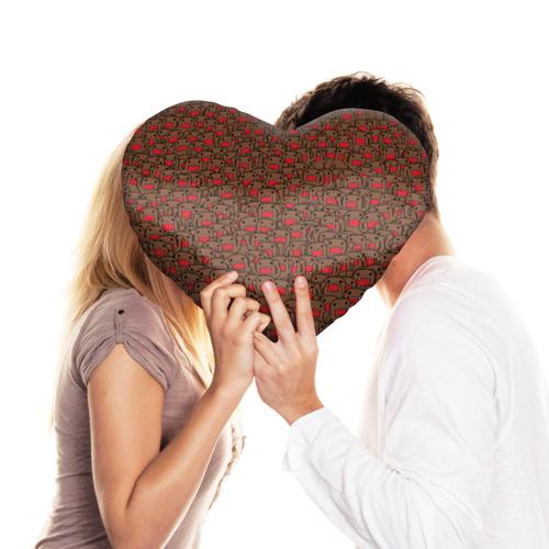 Подушка 3D сердце  Фото 03, Толпа домо-кунов