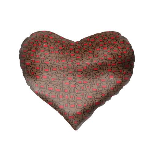 Подушка 3D сердце  Фото 02, Толпа домо-кунов