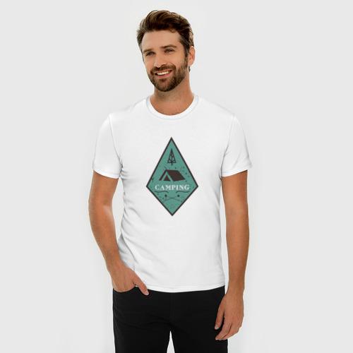 Мужская футболка премиум  Фото 03, Кемпинг
