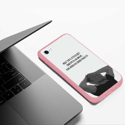 Чехол для iPhone 6Plus/6S Plus матовый Илон и ракета Фото 01