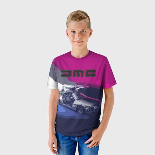 Детская футболка 3D DeLorean