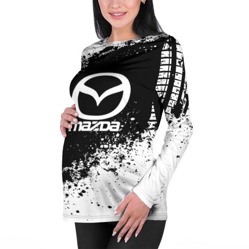Женский лонгслив 3D для беременных  Фото 01, Mazda abstract sport