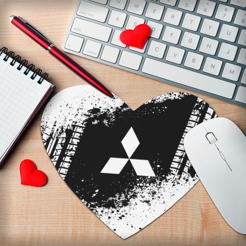 Коврик сердце  Фото 02, Mitsubishi abstract sport