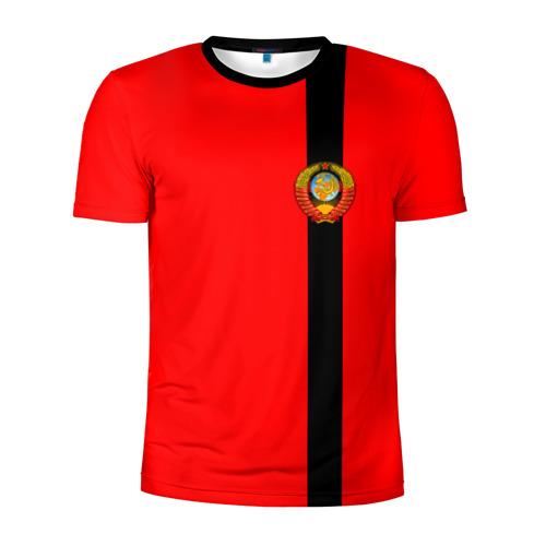 Мужская футболка 3D спортивная  Фото 01, С гербом СССР