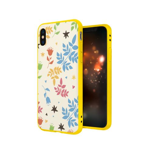 Чехол для Apple iPhone X силиконовый матовый Цвета радости Фото 01