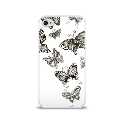 Чехол для Apple iPhone 4/4S силиконовый глянцевый Коллекция BOUDOIR Фото 01