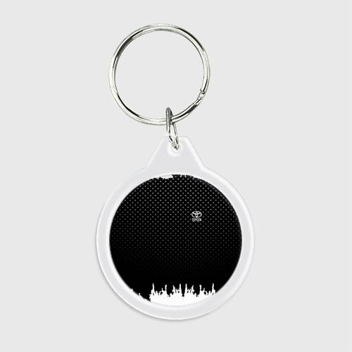Брелок круглый Toyota abstract black 2018 Фото 01