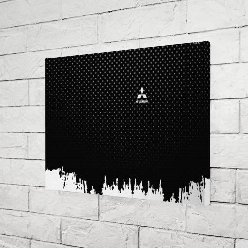 Холст прямоугольный  Фото 03, Mitsubishi abstract black