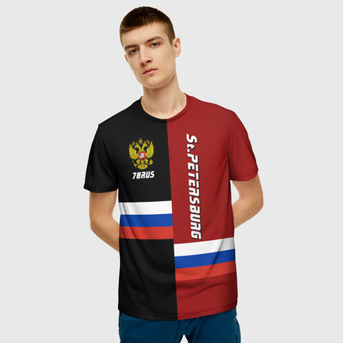 Мужская футболка 3D St.Petersburg Санкт-Петербург Фото 01