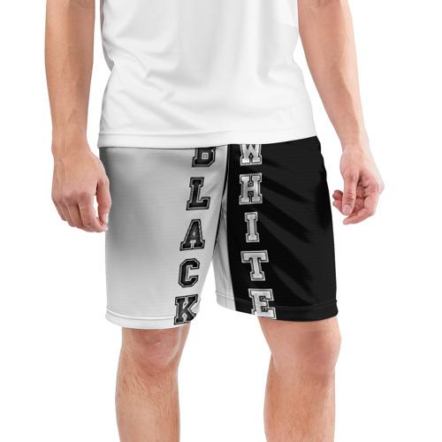 Мужские шорты 3D спортивные  Фото 03, Черное или белое