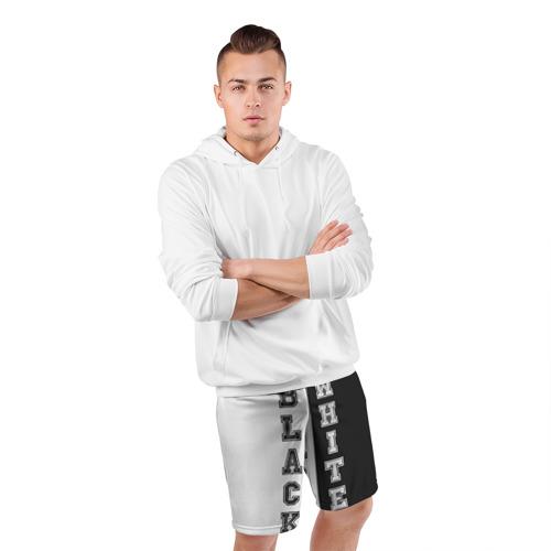 Мужские шорты 3D спортивные  Фото 05, Черное или белое
