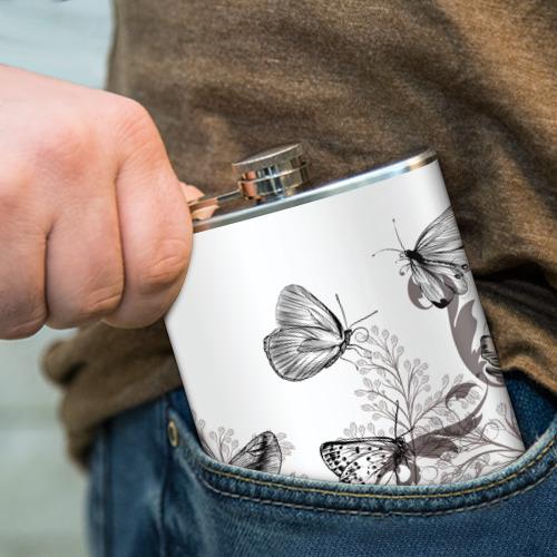 Фляга  Фото 04, Полевые цветы и бабочки