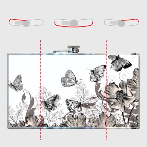 Фляга  Фото 05, Полевые цветы и бабочки