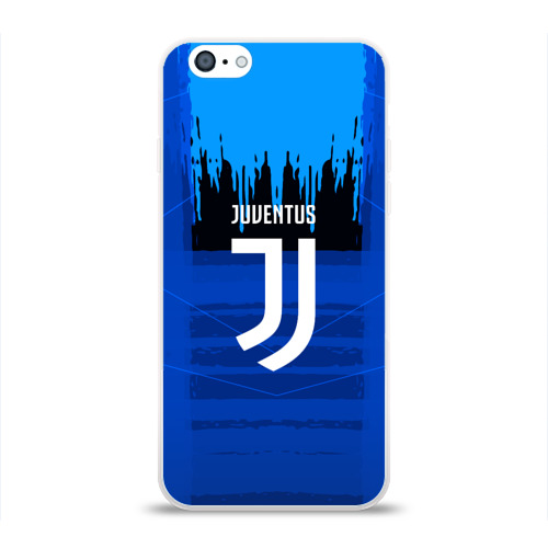 Чехол для Apple iPhone 6 силиконовый глянцевый  Фото 01, FC Juventus color abstract