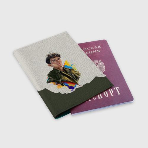 Обложка для паспорта матовая кожа Дюнкерк Фото 01
