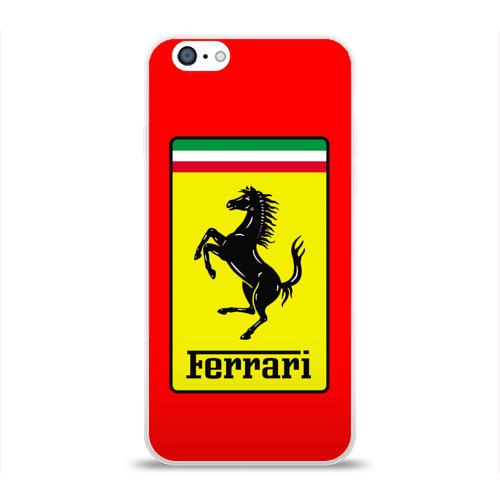 Чехол для Apple iPhone 6 силиконовый глянцевый  Фото 01, Ferrari Only