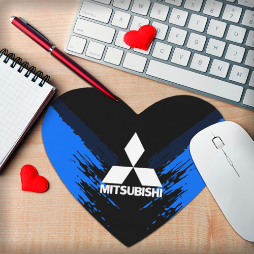 Коврик сердце  Фото 02, MITSUBISHI SPORT COLLECTION
