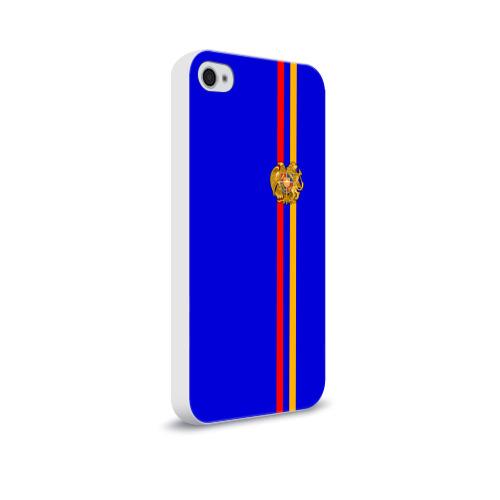 Чехол для Apple iPhone 4/4S soft-touch  Фото 02, Армения, лента с гербом