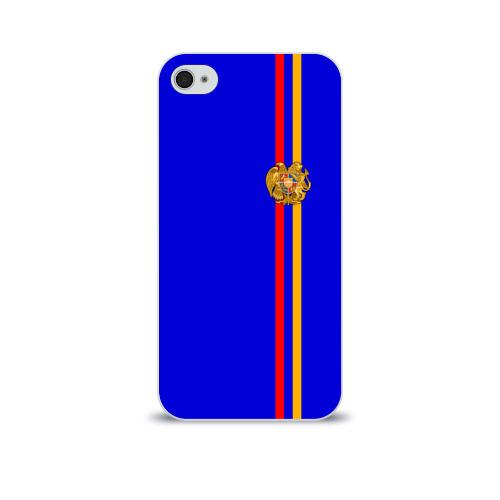 Чехол для Apple iPhone 4/4S soft-touch  Фото 01, Армения, лента с гербом