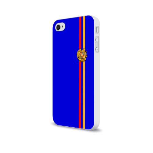 Чехол для Apple iPhone 4/4S soft-touch  Фото 03, Армения, лента с гербом