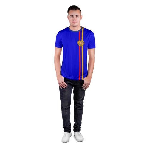 Мужская футболка 3D спортивная  Фото 04, Армения, лента с гербом