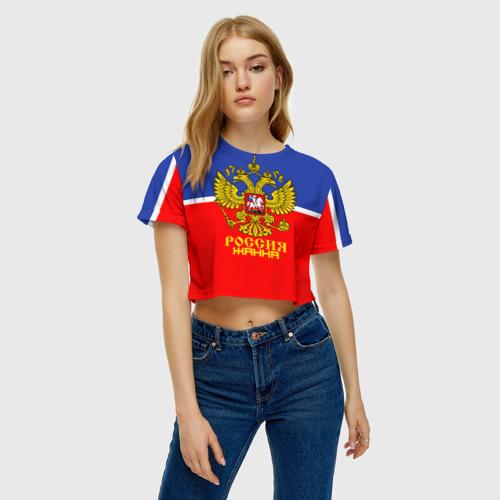 Женская футболка 3D укороченная  Фото 04, Хоккеистка Жанна